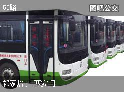 北京55路上行公交线路