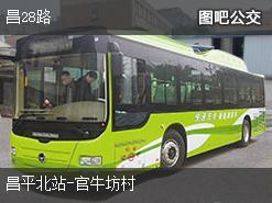 北京昌28路上行公交线路