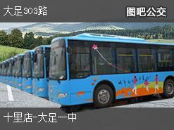 重庆大足303路下行公交线路