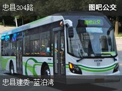 重庆忠县204路公交线路