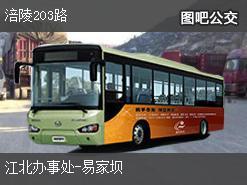 重庆涪陵203路上行公交线路