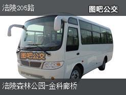 重庆涪陵205路上行公交线路