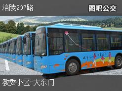 重庆涪陵207路下行公交线路
