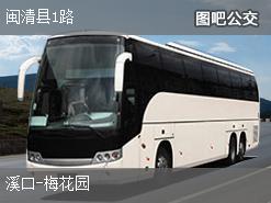 福州闽清县1路上行公交线路