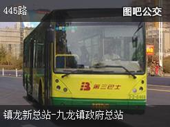广州445路上行公交线路