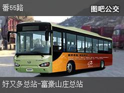 广州番55路上行公交线路