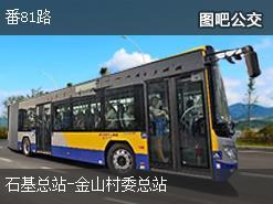 广州番81路上行公交线路
