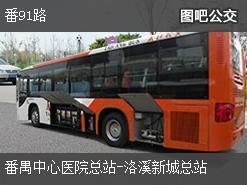 广州番91路上行公交线路