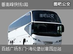 广州番高峰快线1路上行公交线路