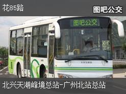 广州花85路上行公交线路