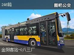 贵阳246路上行公交线路