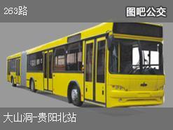 贵阳263路上行公交线路