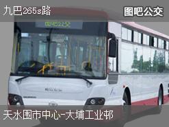 香港九巴265s路上行公交线路