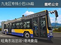香港九龙区专线小巴12b路上行公交线路