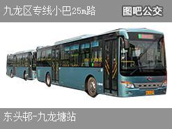 香港九龙区专线小巴25m路上行公交线路