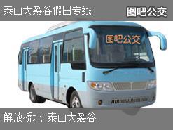 济南泰山大裂谷假日专线上行公交线路