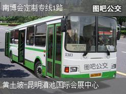 昆明南博会定制专线1路上行公交线路
