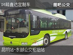昆明D5路直达定制车上行公交线路