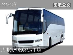 丽水203-1路上行公交线路