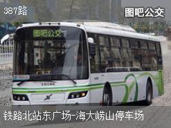 青岛387路上行公交线路