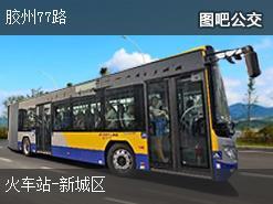 青岛胶州77路下行公交线路
