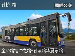 上海孙桥1路上行公交线路