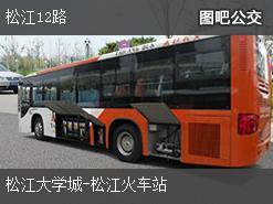 上海松江12路上行公交线路
