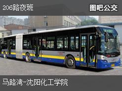 沈阳206路夜班上行公交线路