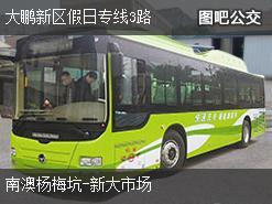 深圳大鹏新区假日专线3路上行公交线路