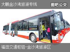 深圳大鹏金沙湾旅游专线上行公交线路