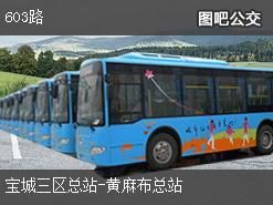 深圳603路上行公交线路