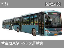 深圳71路上行公交线路