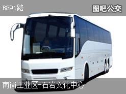 深圳B891路上行公交线路