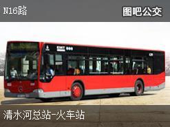 深圳N16路上行公交线路