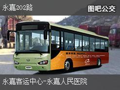 温州永嘉202路上行公交线路