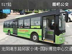 武汉517路上行公交线路