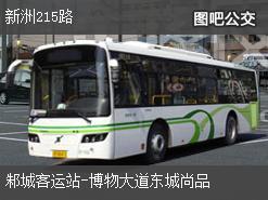 武汉新洲215路上行公交线路