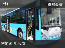 岳阳12路上行公交线路