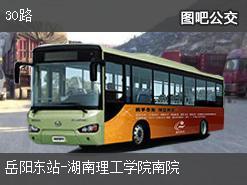 岳阳30路上行公交线路