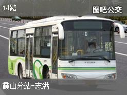 湛江14路上行公交线路