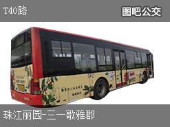 株洲T40路上行公交线路